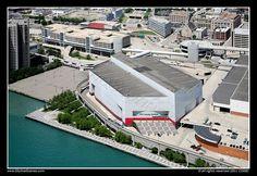 Joe Louis Arena, home of the Detroit Red Wings hockey team...GO WINGS!!!!