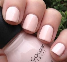 "Sinful Colors - ""Easy Going"" one alternative to white nails. How To Do Nails, Fun Nails, Pretty Nails, Spring Nail Colors, Spring Nails, French Nails, Sinful Colors Nail Polish, Gel Polish, Manicure Y Pedicure"