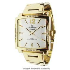 4a81d1fc6f1 relógio champion feminino dourado quadrado Relógio Champion Feminino