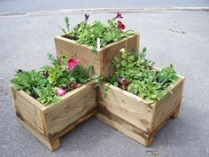 corner wooden garden planter wood trough l shaped timber herbs planter handmade in garden u0026