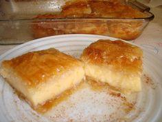 Greek Sweets, Greek Desserts, Cookie Recipes, Dessert Recipes, Custard Cake, Sweet Pie, International Recipes, Sweet Recipes, Deserts