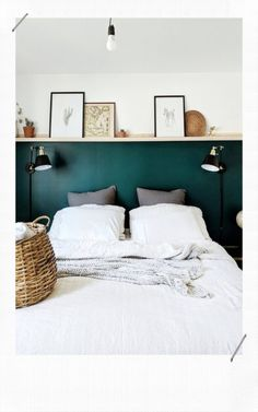 Home Interior Vintage .Home Interior Vintage Home Bedroom, Bedroom Wall, Bedroom Decor, Bedroom Ideas, Master Bedrooms, Green Bedrooms, Bedroom Ceiling, Design Bedroom, Bedroom Layouts