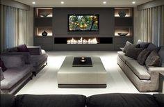 Modern living room # entertaining den