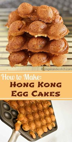 waffles diy Recipe for Hong Kong egg cakes - a street snack popular on the streets of New Yo. Recipe for Hong Kong egg cakes - a street snack popular on the streets of New York& Chinatown Egg Waffle Recipe, Waffle Recipes, Soup Recipes, Snack Recipes, Dessert Recipes, Cooking Recipes, Chinese Street Food, Asian Street Food, Chinese Food