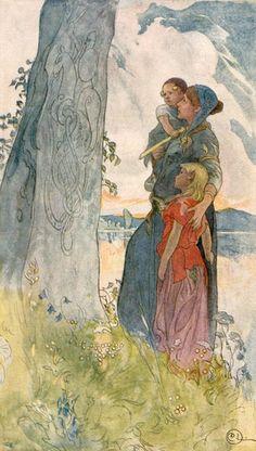 Carl Larsson (1853-1919) - Viking woman