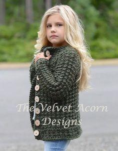 Ravelry: Obsidian Sweater pattern by Heidi May Beanie Knitting Patterns Free, Baby Hats Knitting, Knitting For Kids, Crochet For Kids, Knit Crochet, Knitted Hats, Knit Cardigan Pattern, Knitted Baby Cardigan, Velvet Acorn