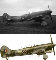 "This is the Hawker Tempest Mk V (s/n of the Wing Commander of the famous 122 ""Tempest"" Wing in April Aircraft Photos, Ww2 Aircraft, Fighter Aircraft, Military Aircraft, Hawker Tempest, Hawker Typhoon, British Aerospace, The Spitfires, Hawker Hurricane"