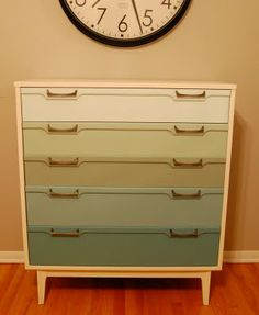 A chest of drawers in the kitchen? Why not??? Great for storing baking sheets, casseroles, pots and pans, etc.