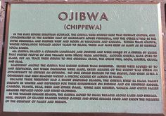 Chippewa Indians | Ojibwa (Chippewa) Indian Plaque | History Grand Rapids