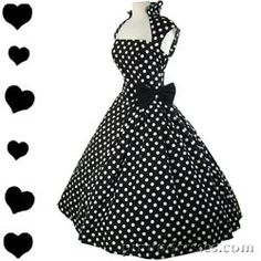 50s style = classy. Love the black and white with polka dots!
