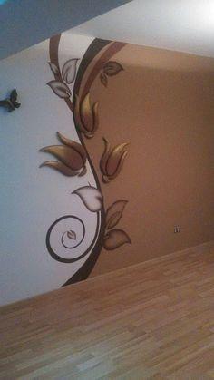 Ideas For Wall Bedroom Stickers Interior Design Bedroom Stickers, Wall Decor Stickers, Wallpaper Stickers, 3d Wallpaper, Cheap Home Decor, Diy Home Decor, Room Decor, Plaster Art, Cool Walls