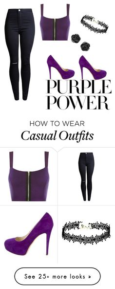 """Purple Power"" by ambroiseisabella on Polyvore featuring WearAll, Brian Atwood, purplepower, internationalwomensday and pressforprogress"