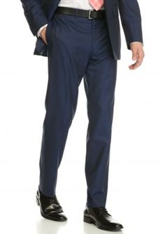 Tallia Orange Blue Slim-Fit Tailored Suit Separate Pants