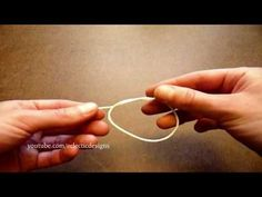 how to  tie 4 different knots for jewlery making