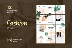 Instagram Puzzle – Inspiration Fashion Post, is a professional, modern and elegant template for your Instagram posts and Gallery. Inspirational Posts, model photography, product Gallery, introduce your brand and more. With this Instagram post template, you can easily improve the quality of your Instagram with a more attractive and professional one.This template is fully editable and can be customized in Adobe Photoshop. It's very simple to use these template in Photoshop. Just edit texts and… Instagram Banner, Instagram Grid, Free Instagram, Instagram Posts, Mood Board Creator, Envato Elements, No Photoshop, Grid Layouts, Instagram Wedding
