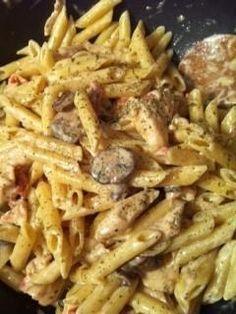 Spicy Shrimp and Chicken Pasta