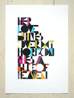 Slice of Heaven (a New Zealand song classic) - multicolour. Large size by Erupt Prints