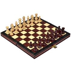 The nicest portable chess board you've ever played on! Wooden Birch board and Hornbeam wood chessmen are magnetic so they stay where they are put without worries of a bump or a jiggle to disrupt your