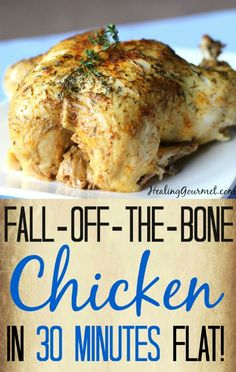 Instant Pot Fall of the Bone Chicken from Healing Gourmet and Instant Pot Recipes and Slow Cooker Recipes for amazing and savory taste on Frugal Coupon Living!