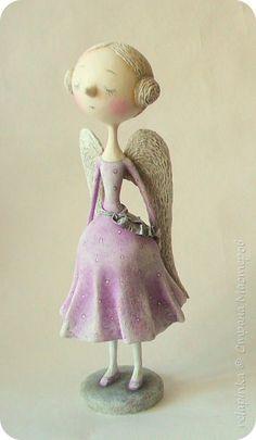 Куклы Новый год Папье-маше Ангел Бумага фото 1