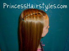 女の子のためのヘアスタイル - プリンセスヘアスタイル