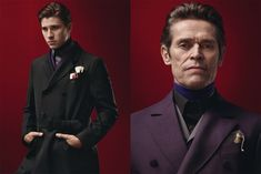 The Prada Menswear Fall/ Winter 2012 Collection, modeled by Gary Oldman, Garrett Hedlund, Jamie Bell, and Willem Dafoe.