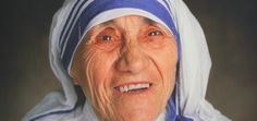 The famous blue-bordered sari of Mother Teresa, who has been canonised as Saint Teresa of Calcutta by the Vatican, has been recognised as an Intellectual Saint Teresa Of Calcutta, List Of Famous People, Mother Teresa Quotes, Love And Forgiveness, Nobel Peace Prize, Pope Francis, Portraits, Most Beautiful, Sisters
