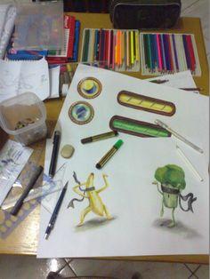 Processo de  criação é sempre uma bagunça kkk/ Proceso de creación siempre es una desorden kkk/ Creation process is always a mess kkk. ;)!