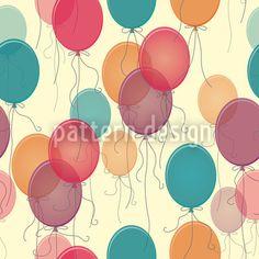 Vintage Balloons by Katrin Kristjansdottir available for download on patterndesigns.com