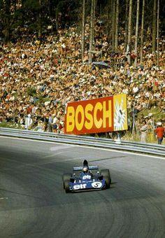 Jackie Stewart at the Österreichring, 1973 Jackie Stewart, Mustang Wheels, Car Wheels, Vintage Racing, Vintage Cars, Vintage Auto, Gp F1, Racing Team, F1 Racing