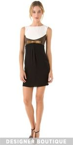 DSQUARED  Lou Bow Dress with Leather ...