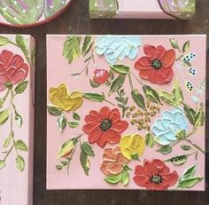 26 Trendy Flowers Painting Acrylic Canvases Inspiration #painting #flowers