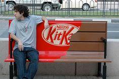 Kitkat — Environmental advertising. Fantastic ambient ad for Kit Kat!