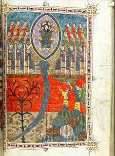 Beatus de Liebana; 'Silos Apocalypse', Northern Spain, c.1100 London British Library - Add. MS 11695, Jerome, Commentary on Daniel (fol-220r - 266r) Beatus Add MS 11695 fol-209r Source: www.bl.uk/manuscripts/Viewer.aspx?ref=add_ms_11695_f220r