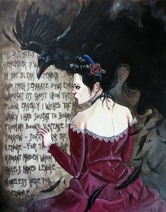 """SOLD - """"The Lost Lenore"""" by Catherine E. Moore. Acrylic on gesso board."""