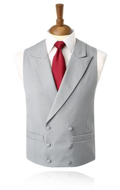 61ab419aeb2 Buy Luxury Wool Dove Grey Double Breasted Morning Suit Waistcoat with FREE  delivery and FREE returns