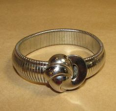 Vintage 1940s Coro Bracelet Silver Expandable Band Vintage 1940s Jewelry War Years Fashions Costume Jewelry by LadysSlipperVintage on Etsy