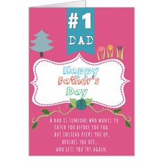 "An anime greeting card for this father's day with a beautiful quote on its cover and a ""customizable"" message inside."