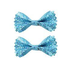 Turquoise Sparkle Bows