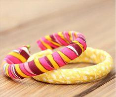 DIY Duct Fabric Tape Bangle Bracelet | 101 Duct Tape Crafts Please follow us @ http://www.pinterest.com/ducktapesale/