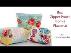 Placemat Zipper Pouch with Vinyl Lining - YouTube