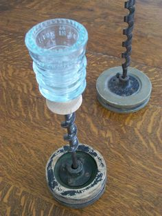 30 creative ideas using vintage glass insulators glass for Insulator candle holder