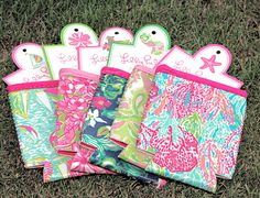 Lilly Pulitzer Koozies. Need for Spring Break!