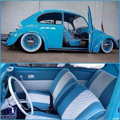 sky blue vw Bug