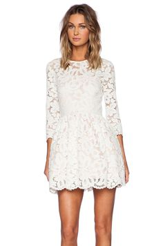 Alexis Vincent Lace Dress in Ivory