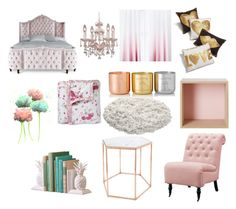 """Rose gold colour room"" by rosedyer04 on Polyvore featuring interior, interiors, interior design, home, home decor, interior decorating, Haute House, Crystorama, Jonathan Adler and Tom Dixon"