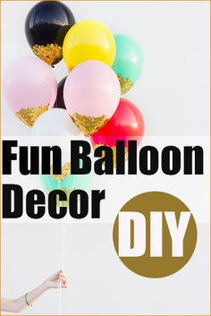 Fun Ways to Decorate With Balloons.  Creative party decorations for any occasion.  Great for birthday parties, bridal showers, baby showers and more.