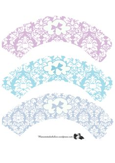 Damask Bow Cupcake Wrappers                                                                                                                                                                                 Más