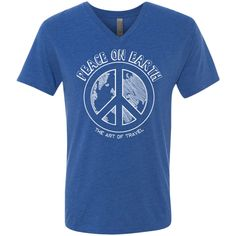 Peace on Earth Men's Travel Triblend V-Neck Tee