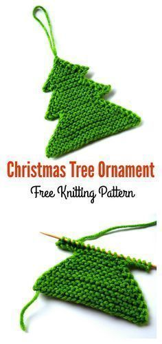 Christmas Tree Ornament Free Knitting Pattern - knitting is as easy as 2 . Christmas Tree Ornament Free Knitting Pattern - knitting is as easy as 3 knitting comes down to three essential sk. Knitted Christmas Decorations, Knit Christmas Ornaments, Crochet Christmas Trees, Christmas Crafts, Christmas Christmas, Xmas, Christmas Things, Homemade Christmas, Knitting Patterns Free